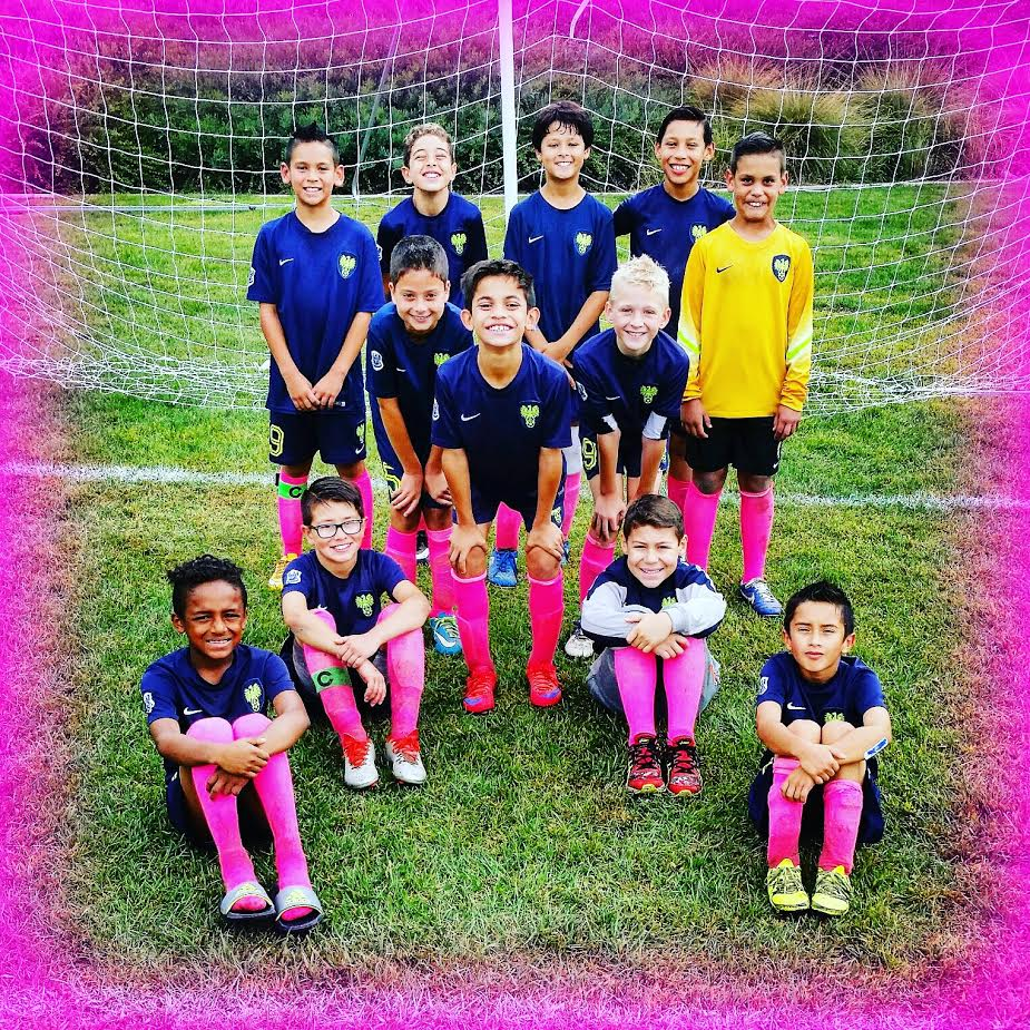 Celebrating Pinktober with the Freedom FC B06 team!